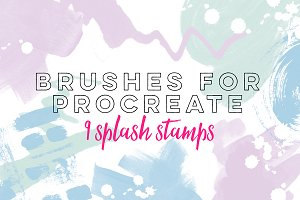 9 Splash Stamps - Procreate Brushes