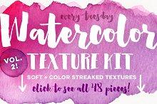 Watercolor Texture Kit Vol. 2
