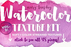Watercolor Texture Kit Vol. 2
