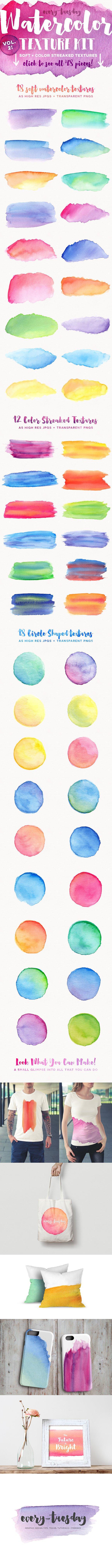 Watercolor Texture Kit Vol. 2 - Textures