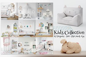 Kids Collection - 85 Mockup Bundle