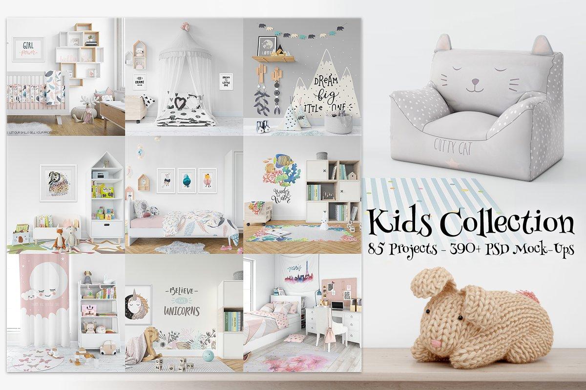 Kids Collection - 85 Mockup Bundle