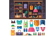Wardrobe, items of personal style