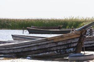 Pier village wooden boat