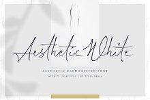 Aesthetic White | Handwritten Font