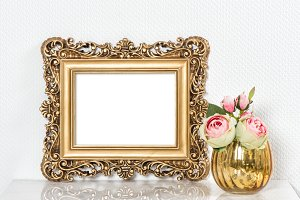 Baroque golden picture frame JPG