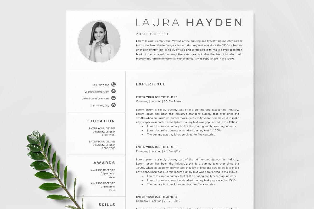 Resume Template / CV ~ Resume Templates ~ Creative Market