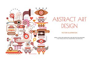 Abstract art design on a white