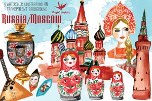 Moscow/ Russia illustrations