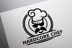 Hardcore Chef Logo Template