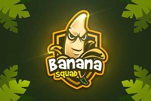 Banana Squad - Mascot & Esport Logo