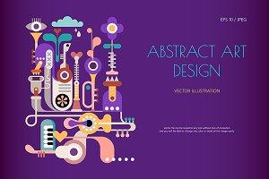 Music Jukebox, Abstract art design