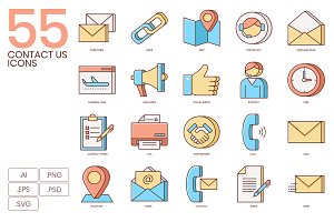 55 Contact Us Icons | Honey