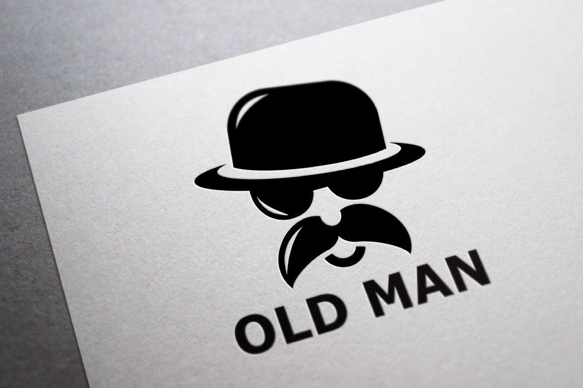 d6f03383c18 Old Man Logo Template ~ Logo Templates ~ Creative Market