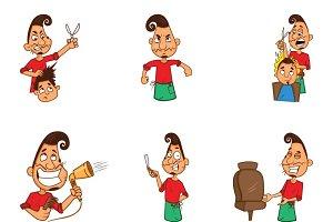 Illustration Of Cartoon Barber