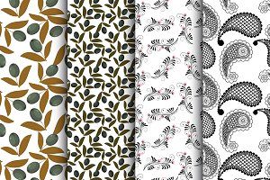 4 vector seamless natural patterns