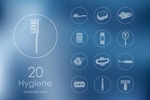 20 hygiene icons