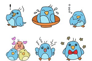 Cartoon Cute Bird Illustration