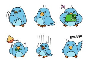 Illustration Of Cartoon Bird
