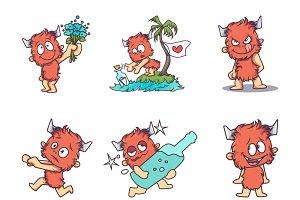 Cartoon Illustration Of Monster