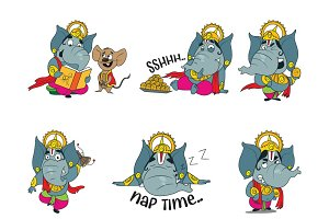 Cute God Ganesha Illustration