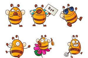 Cartoon Honey Bee Illustration