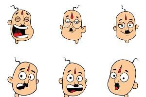 Cartoon Bald Man Illustration