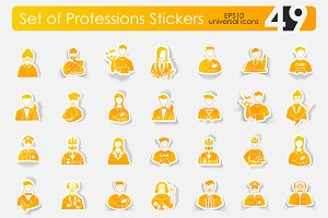 49 professions stickers
