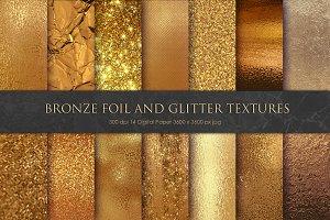 Bronze and Gold Foil Glitter Texture
