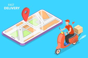 Delivery by scooter