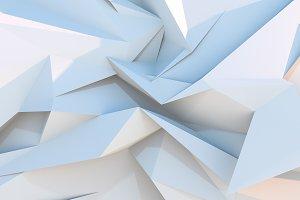 White polygonal geometric background