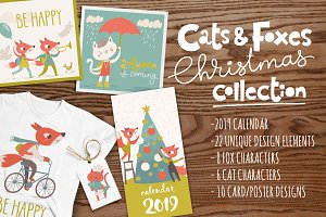 Cats&Foxes Christmas collection
