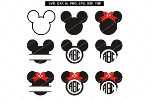 Mickey mouse svg,Minnie mouse svg