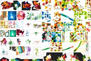Large set of abstract backgrounds