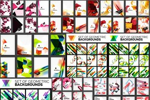 Geometric brochure designs, big set