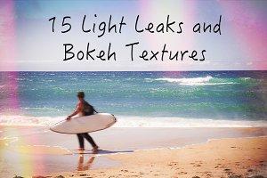 15 LightLeaks and Bokeh Textures