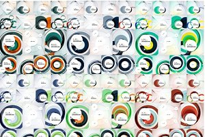 Over 100 abstract circle backgrounds