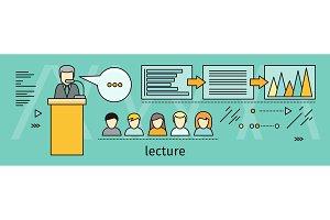 Lecture Concept Vector Illustration