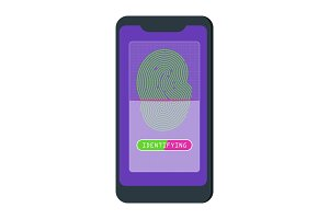 Flat vector fingerprint