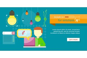 Search for Solutions Banner. Person
