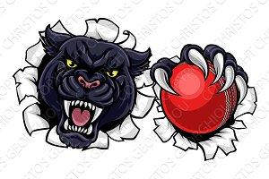 Black Panther Cricket Mascot
