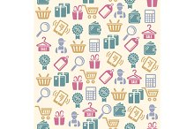 Vector Set of shopping icons pattern