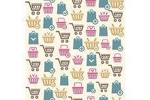 Vector Set of shopping cart pattern