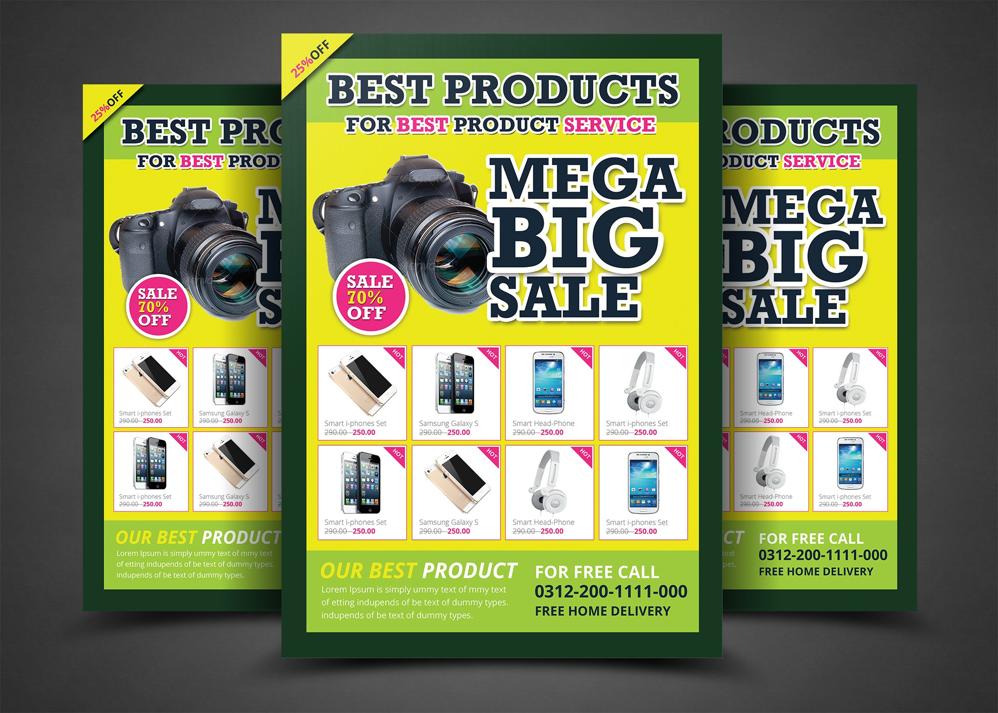 product promotion print templates flyer templates creative market pro