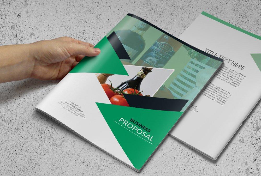 business proposal or brochure brochure templates creative market. Black Bedroom Furniture Sets. Home Design Ideas