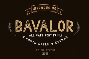Bavalor - All Caps Font Family