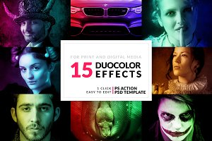 15 Duo Color Photoshop Actions