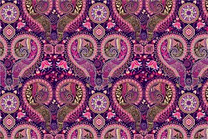Pink Ornamental Seamless Pattern