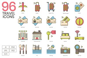 96 Travel Icons | Hazel
