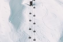 Funicular Cable cabins winter  by  in Transportation